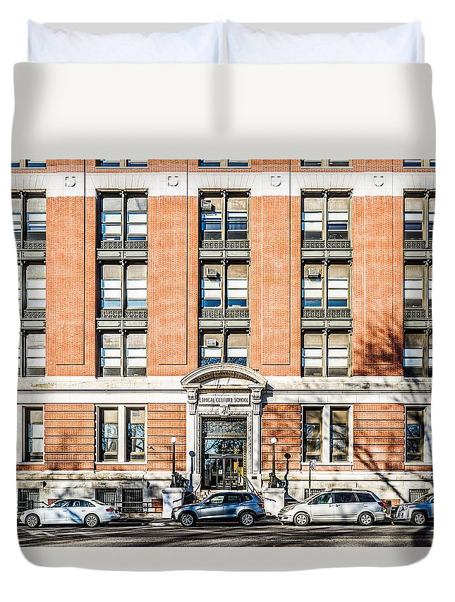 New York City Duvet Cover featuring the photograph 33 Cpw by Kenneth Grant