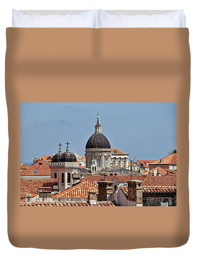 Dubrovnik Croatia Duvet Cover featuring the photograph Dubrovnik Croatia by Paul James Bannerman