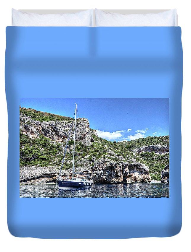 Hvar Croatia Duvet Cover featuring the photograph Hvar Croatia by Paul James Bannerman