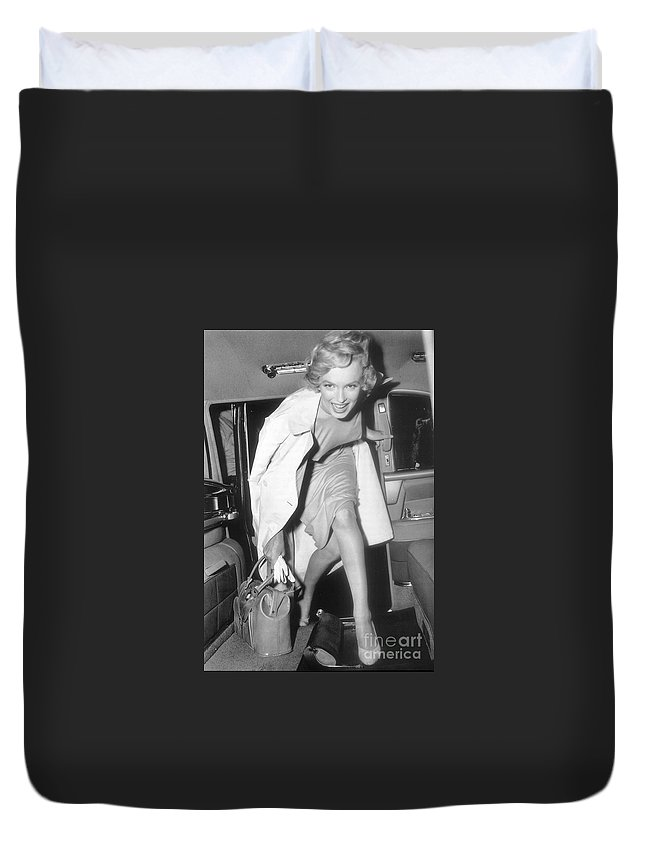 Duvet Cover featuring the photograph Marilyn Monroe by Marilyn Monroe