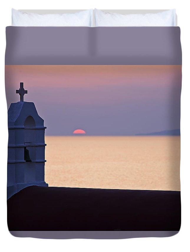 Mykonos Duvet Cover featuring the photograph Mykonos by Joana Kruse