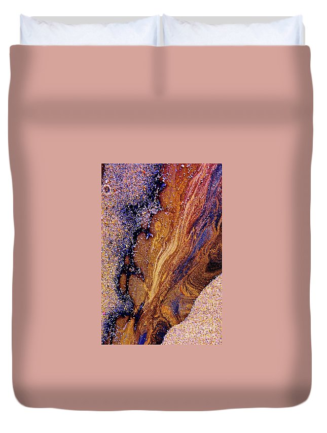 Abstract Duvet Cover featuring the photograph Untitled by Cate
