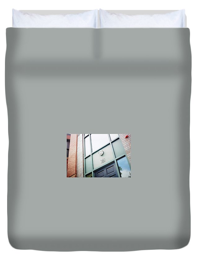 Boston Duvet Cover featuring the photograph 351 by Harry Meletiadis