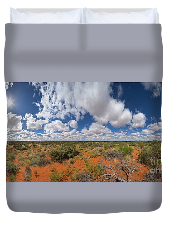 00477470 Duvet Cover featuring the photograph 360 Of Clouds Over Desert by Yva Momatiuk John Eastcott