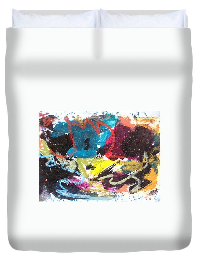 Sjkim Art Duvet Cover featuring the painting Abstract Expressionsim Art by Seon-jeong Kim