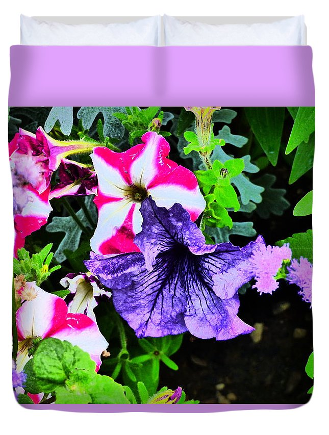 Idaho Spring Flowers Gardens Floral Duvet Cover featuring the photograph Caravan Of Dreams by Paul Stanner