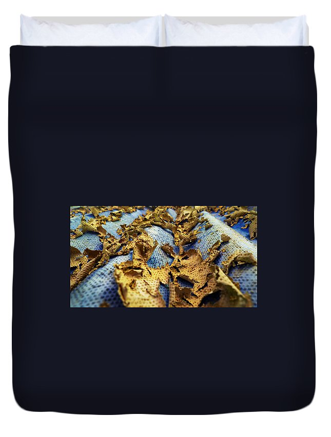 Abstract Duvet Cover featuring the photograph 377 At 41 Series 2 by Skip Hunt