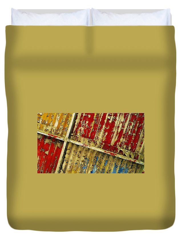 Abstract Duvet Cover featuring the photograph 377 At 41 Series 6 by Skip Hunt
