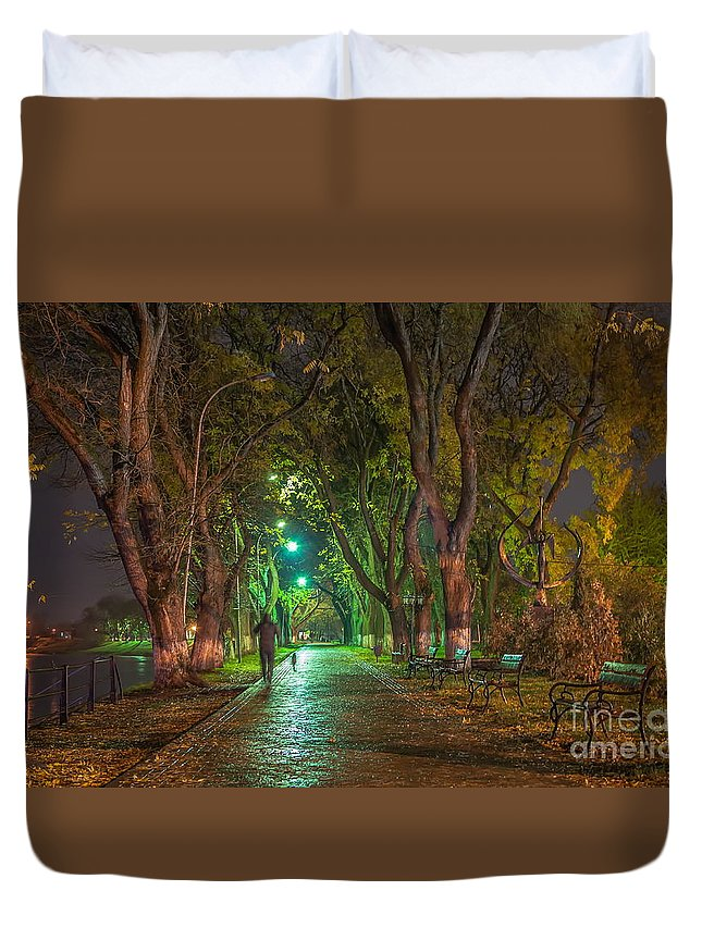 Landscape Duvet Cover featuring the photograph Uzhgorod by Lyudmila Prokopenko