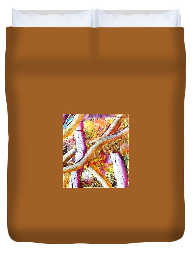 Duvet Cover featuring the painting Abstract by Jay Bonifield