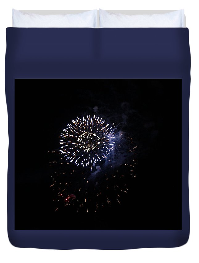 Firework Duvet Cover featuring the photograph Fireworks by Jeremiah David