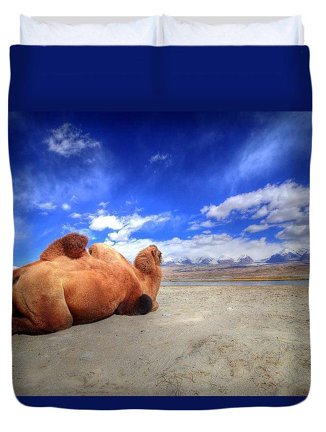 Xinjiang Province China Duvet Cover featuring the photograph Xinjiang Province China by Paul James Bannerman