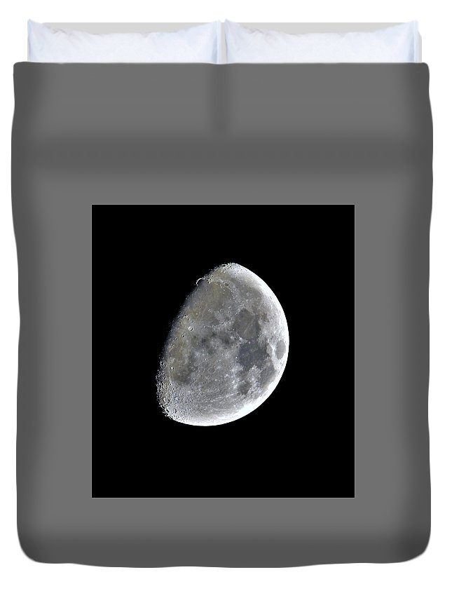 Moon Duvet Cover featuring the photograph 3d Moon by Jenny Harrison