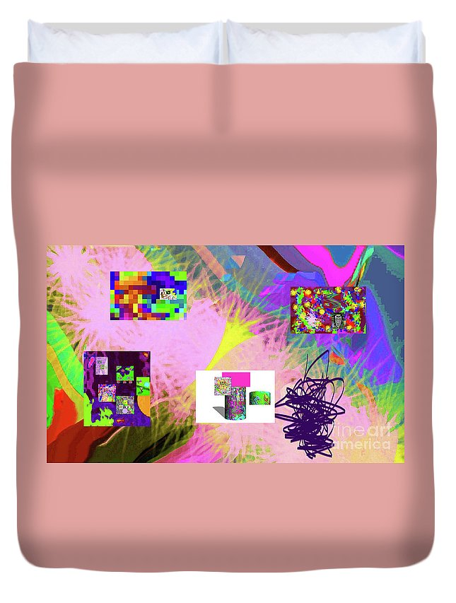 Walter Paul Bebirian Duvet Cover featuring the digital art 4-18-2015babcdefghijklmnopqrtuvwxy by Walter Paul Bebirian