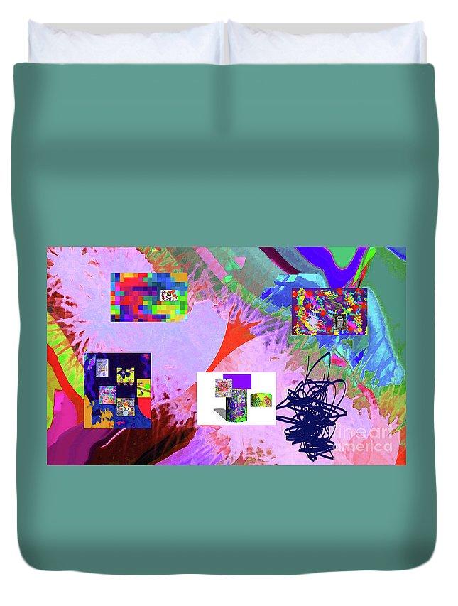 Walter Paul Bebirian Duvet Cover featuring the digital art 4-18-2015babcdefghijklmnopqrtuvwxyzabcd by Walter Paul Bebirian