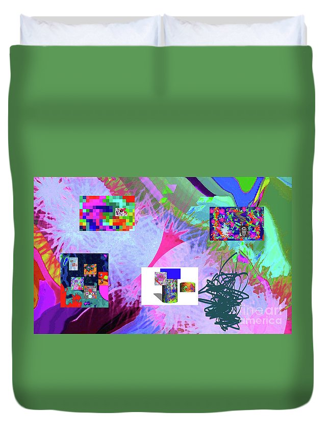 Walter Paul Bebirian Duvet Cover featuring the digital art 4-18-2015babcdefghijklmnopqrtuvwxyzabcdefgh by Walter Paul Bebirian