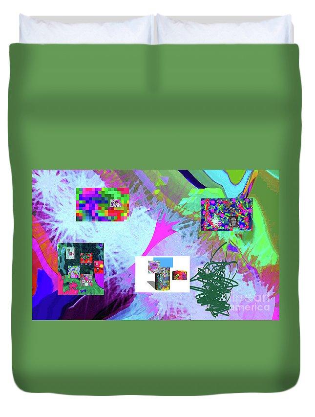Walter Paul Bebirian Duvet Cover featuring the digital art 4-18-2015babcdefghijklmnopqrtuvwxyzabcdefghijk by Walter Paul Bebirian
