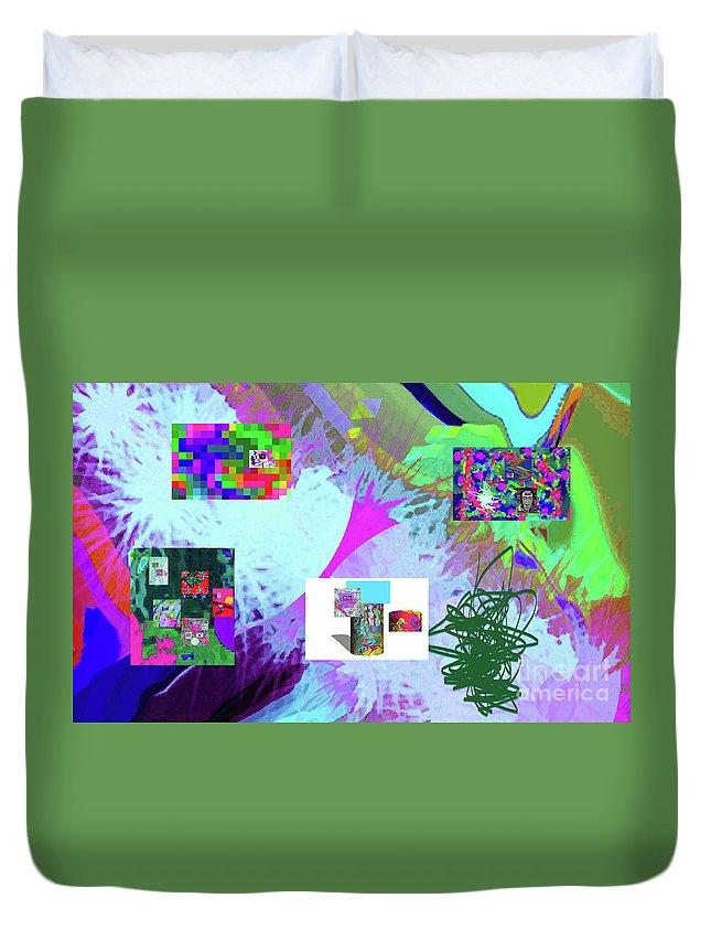 Walter Paul Bebirian Duvet Cover featuring the digital art 4-18-2015babcdefghijklmnopqrtuvwxyzabcdefghijkl by Walter Paul Bebirian