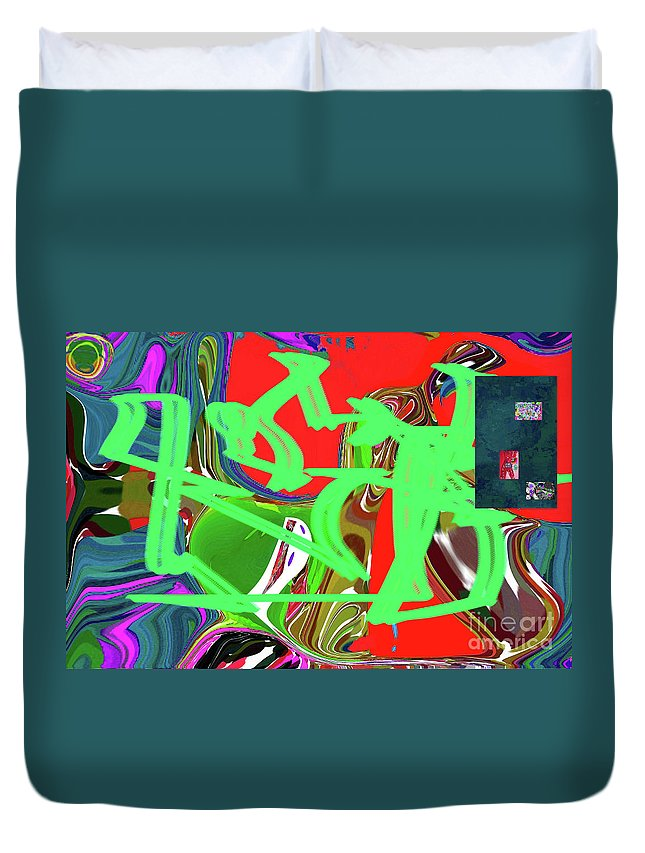 Walter Paul Bebirian Duvet Cover featuring the digital art 4-19-2015bab by Walter Paul Bebirian