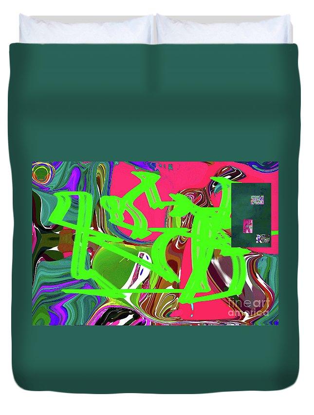 Walter Paul Bebirian Duvet Cover featuring the digital art 4-19-2015babcd by Walter Paul Bebirian