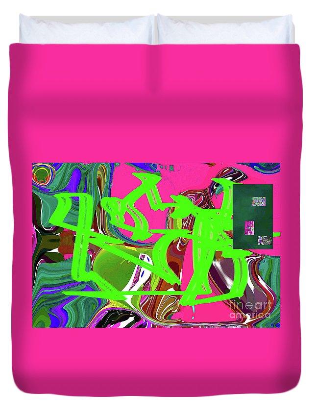 Walter Paul Bebirian Duvet Cover featuring the digital art 4-19-2015babcde by Walter Paul Bebirian