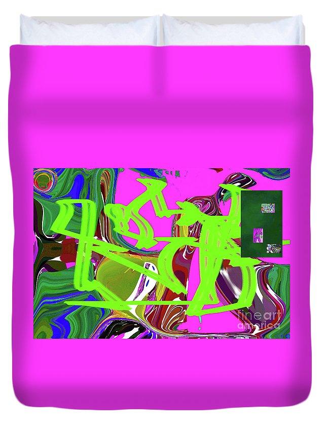 Walter Paul Bebirian Duvet Cover featuring the digital art 4-19-2015babcdefg by Walter Paul Bebirian