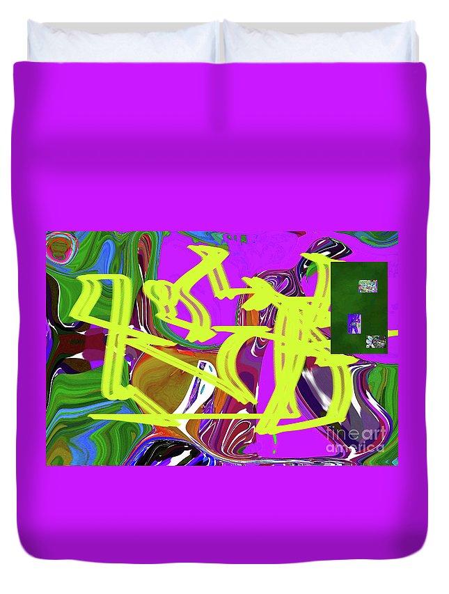 Walter Paul Bebirian Duvet Cover featuring the digital art 4-19-2015babcdefghij by Walter Paul Bebirian