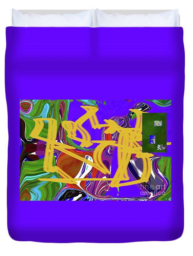 Walter Paul Bebirian Duvet Cover featuring the digital art 4-19-2015babcdefghijkl by Walter Paul Bebirian