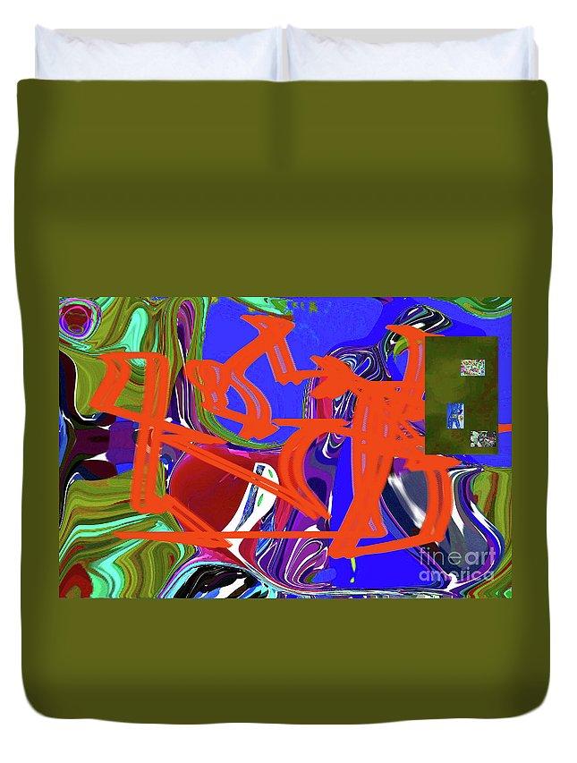 Walter Paul Bebirian Duvet Cover featuring the digital art 4-19-2015babcdefghijklmno by Walter Paul Bebirian