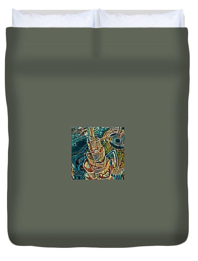 Duvet Cover featuring the digital art Burj Khalifa by Melinda Sullivan Image and Design