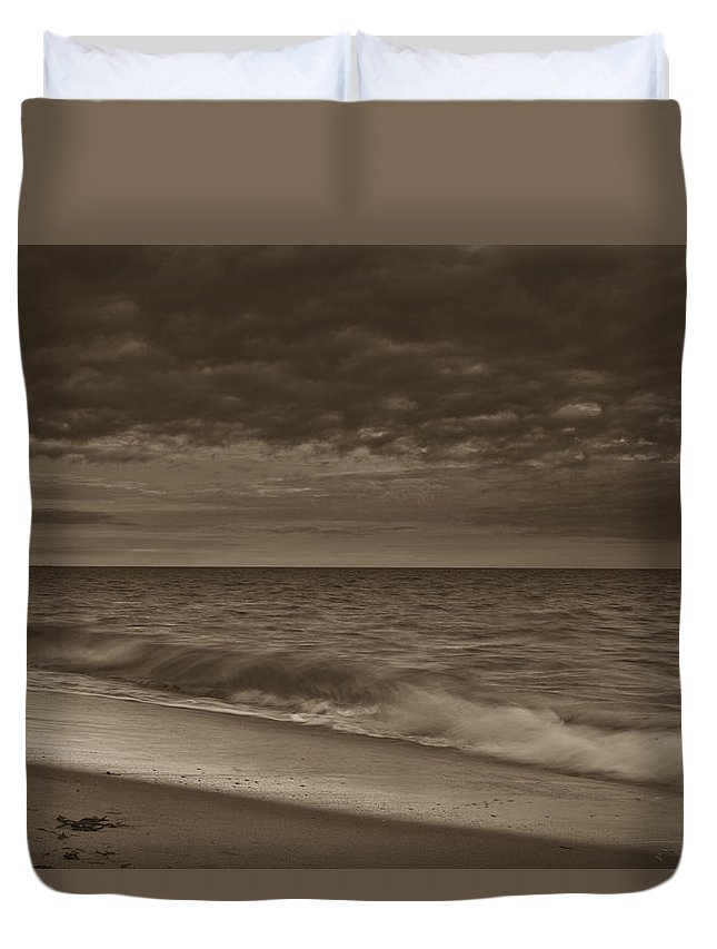 Storm Duvet Cover featuring the photograph Cape Ann, Ma by Avril Christophe