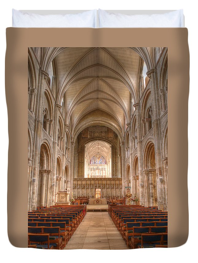 Christchurch Duvet Cover featuring the photograph Christchurch Priory by Chris Day