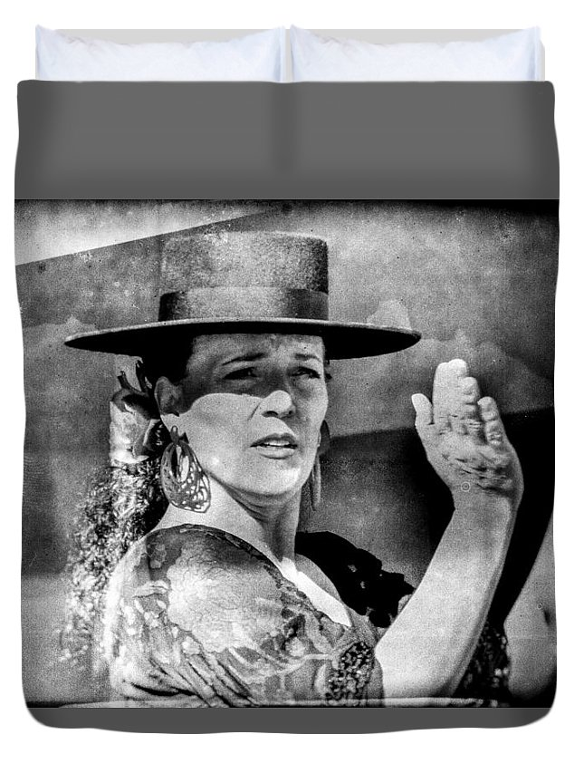 Flamenco Duvet Cover featuring the photograph Flamenco by Marit Runyon