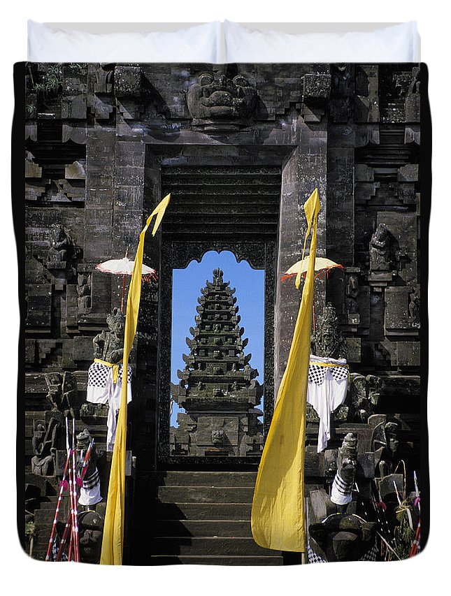 Ancient Duvet Cover featuring the photograph Indonesia, Bali by Gloria & Richard Maschmeyer - Printscapes