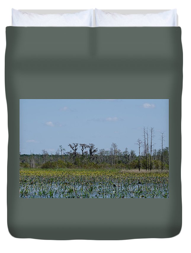 Landscape Duvet Cover featuring the photograph Landscape by Karen Hart