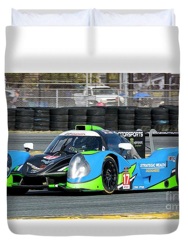 Automobile Duvet Cover featuring the photograph Ligier Js P3 Le Mans Prototype 3 Lmp3 by Tad Gage