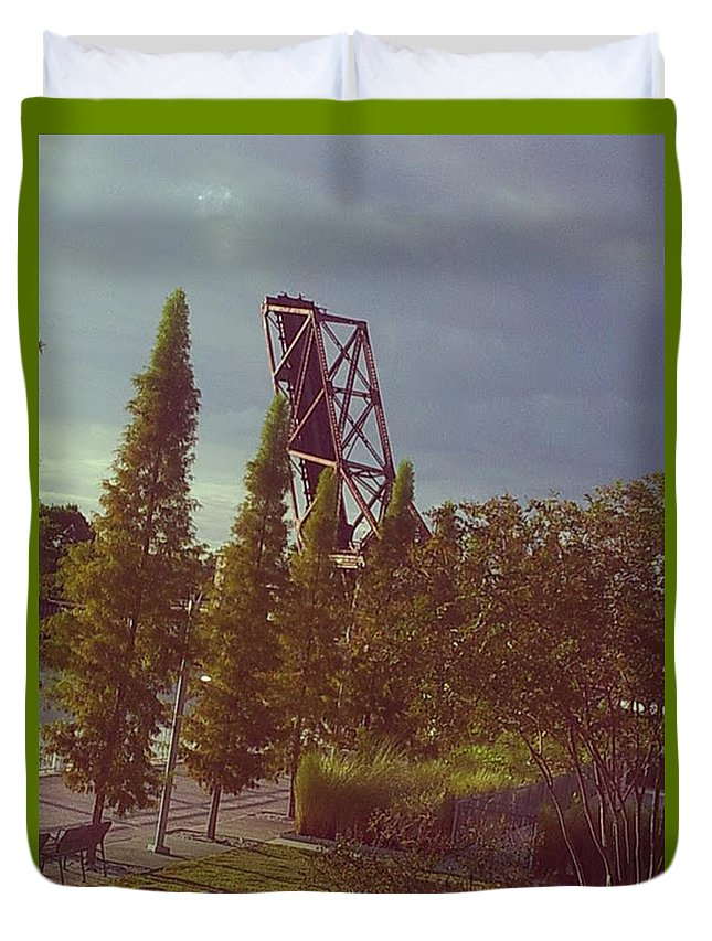 Riverwalk Duvet Cover featuring the photograph 4 Liner by Rene GrayMitchell