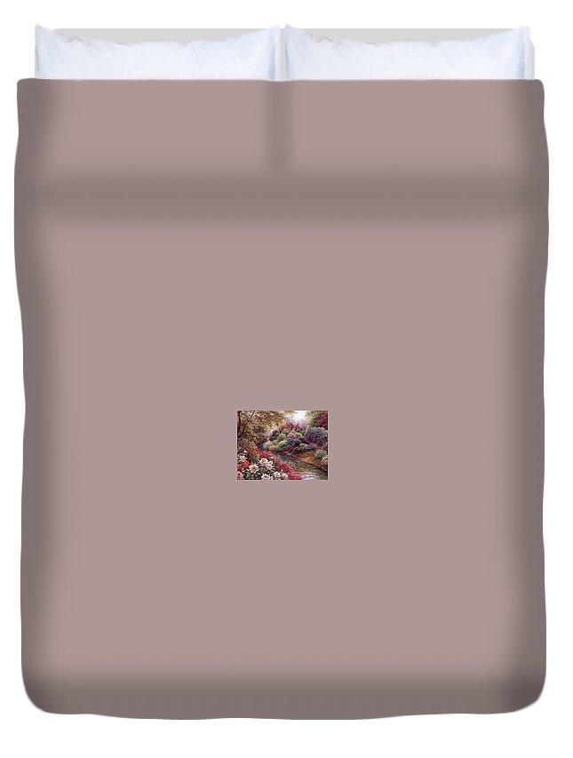 Shrub Duvet Cover featuring the digital art lrs Peeters Henry No Tltle Henry Peeters by Eloisa Mannion