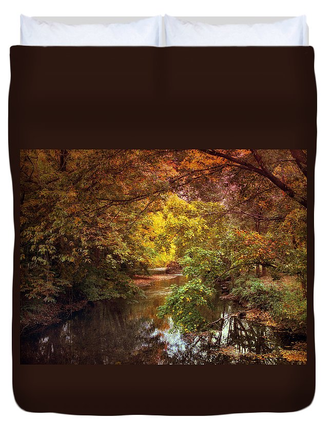 Autumn Duvet Cover featuring the photograph River View by Jessica Jenney