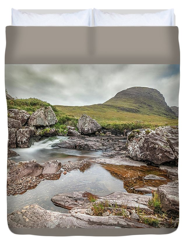 Russell Burn Duvet Cover featuring the photograph Russell Burn - Scotland by Joana Kruse