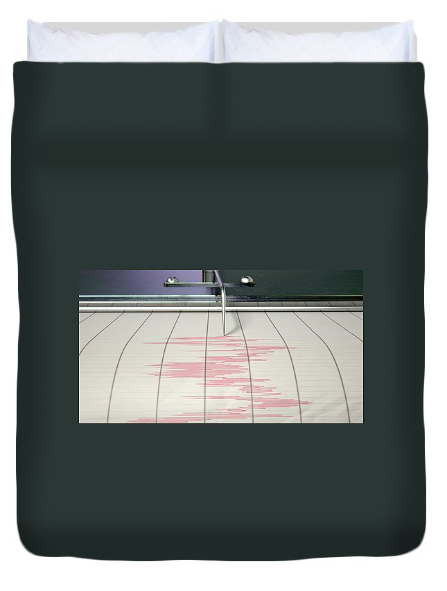 Seismic Duvet Cover featuring the digital art Seismograph Earthquake Activity by Allan Swart