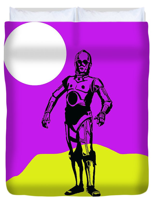 C-3po Duvet Cover featuring the mixed media Star Wars C-3po Collection by Marvin Blaine