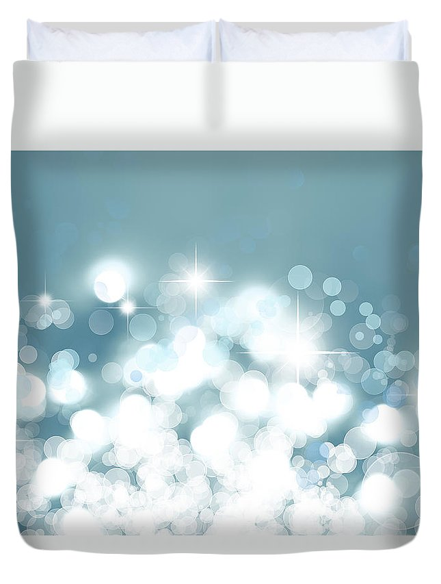 Abstract Duvet Cover featuring the digital art Stars by Les Cunliffe