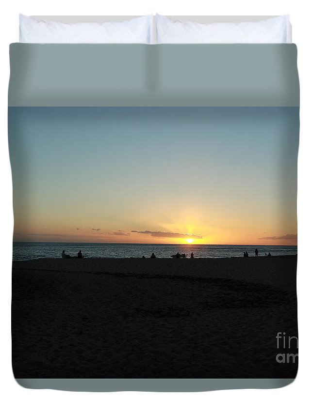 Sunset Duvet Cover featuring the photograph Sunset by Byron Fair