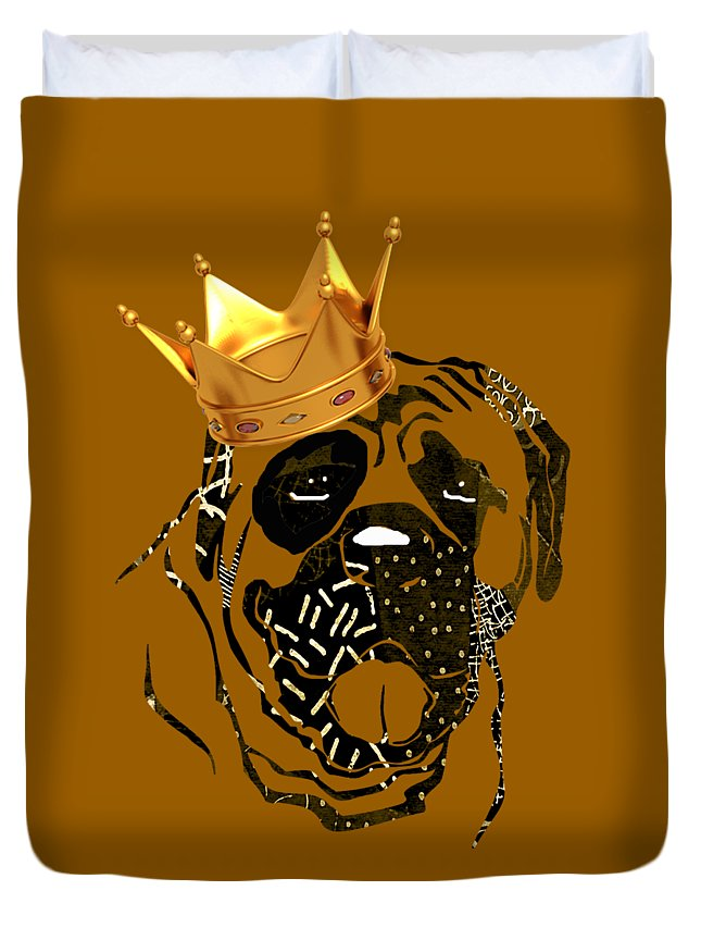 Dog Duvet Cover featuring the mixed media Top Dog Collection by Marvin Blaine
