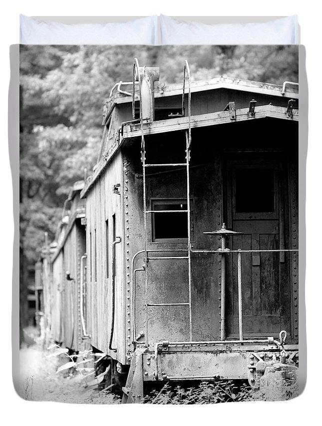 Train Duvet Cover featuring the photograph Train by Sebastian Musial