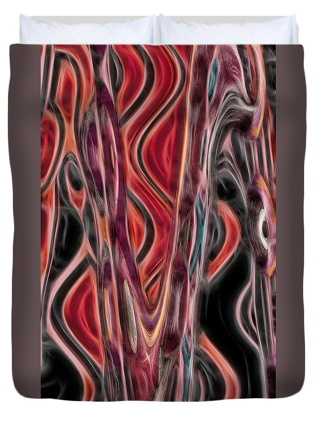 Abstract Duvet Cover featuring the digital art 4 U 24 by John Saunders