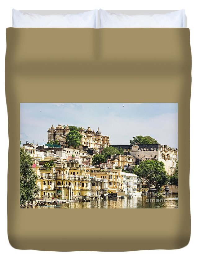 Ancient Duvet Cover featuring the photograph Udaipur City Palace In Rajasthan by Didier Marti