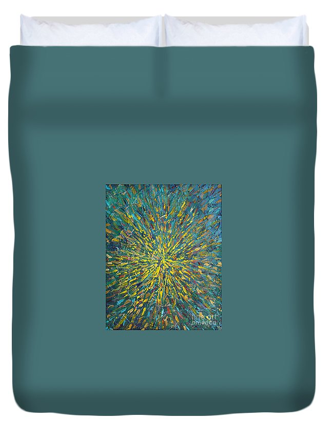 Abstract Duvet Cover featuring the painting Untitled by Dean Triolo