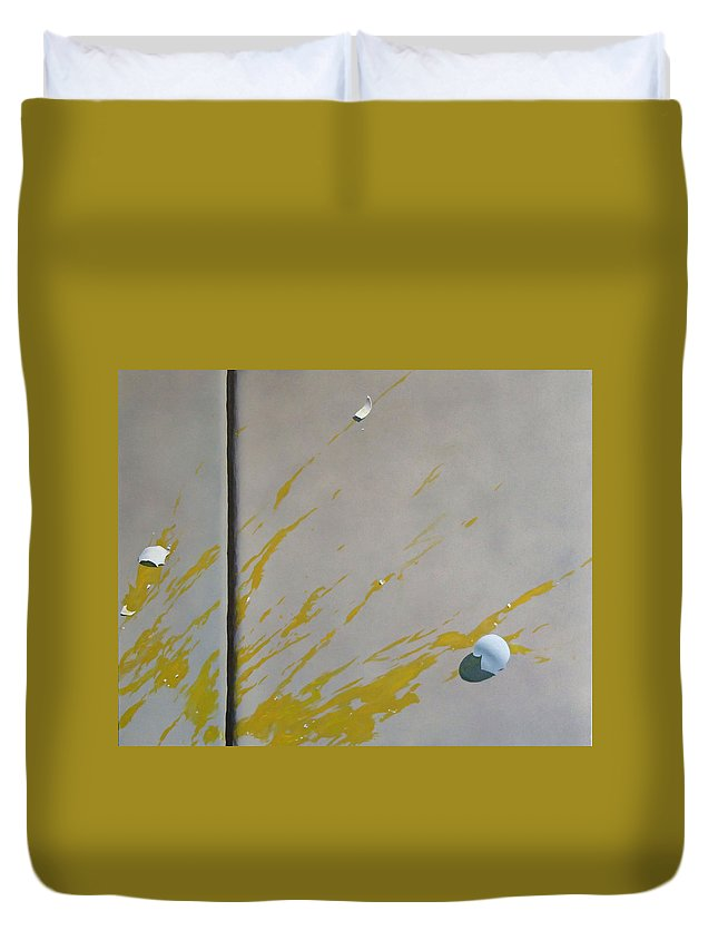 Street Scene Duvet Cover featuring the painting Untitled 5 by Philip Fleischer